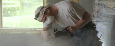 Man using a circular saw