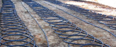 Geothermal wiring system on ground