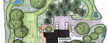 Landscaping plans drawing