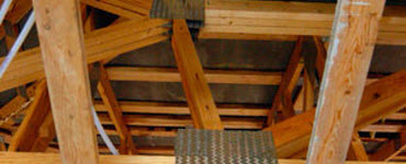 Trusses in an attic